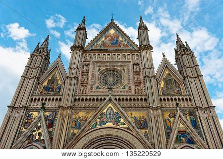 Cathedral (Duomo) of Orvieto town, Umbria, Italy