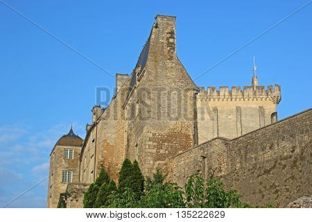 exterior walls of Pons Castle in France