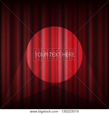 Red Cinema Or Theater Curtain Vector Eps 10
