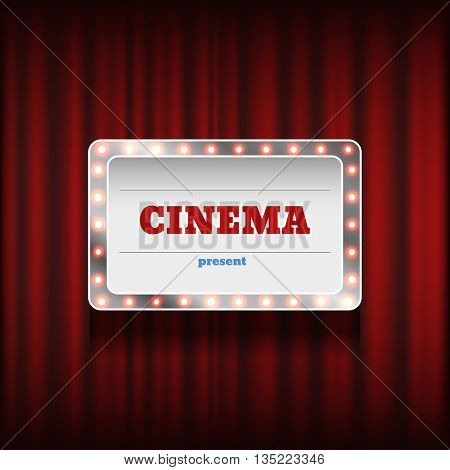 Theater Or Cinema Background Vector Eps 10