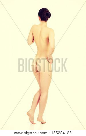 Sexy naked woman with clean skin.