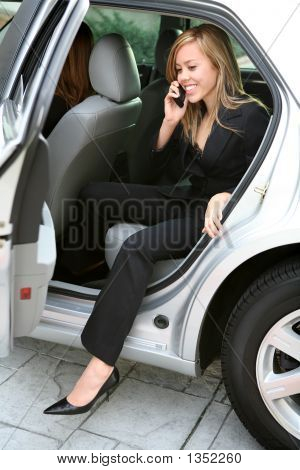 Business Woman And Car