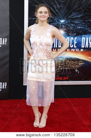 Joey King at the Los Angeles premiere of 'Independence Day: Resurgence' held at the TCL Chinese Theatre in Hollywood, USA on June 20, 2016.