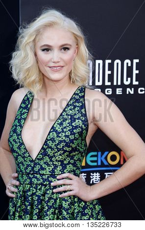 Maika Monroe at the Los Angeles premiere of 'Independence Day: Resurgence' held at the TCL Chinese Theatre in Hollywood, USA on June 20, 2016.
