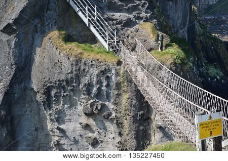 Carrick-a-rede Rope Bridge In The North Of Ireland