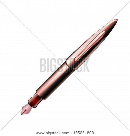 Dark Red Pen, Vector