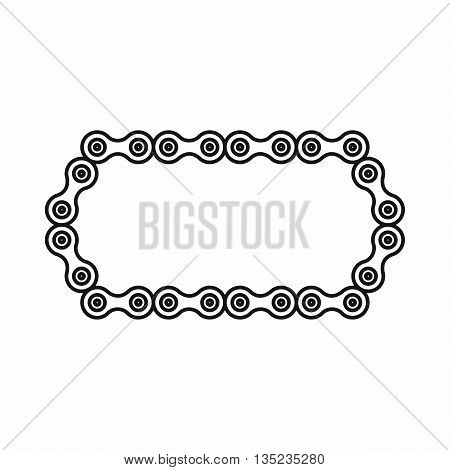 Bicycle chain icon in outline style isolated on white background