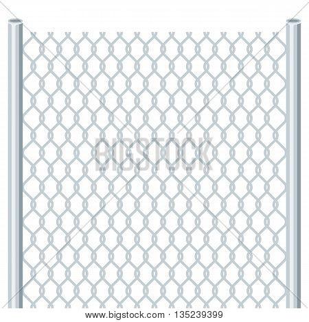 Fence. Vector flat illustration isolated on white background.
