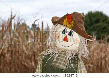 Cute Autumn Scarecrow
