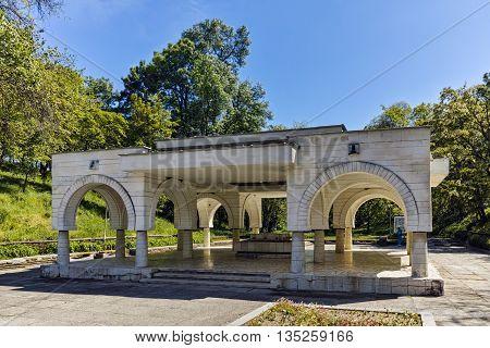 Spring of mineral water in  town of Hisarya, Plovdiv Region, Bulgaria
