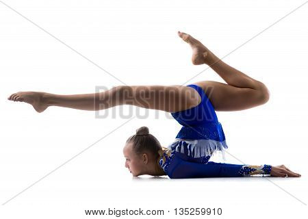 Flexible Girl Doing Gymnastics