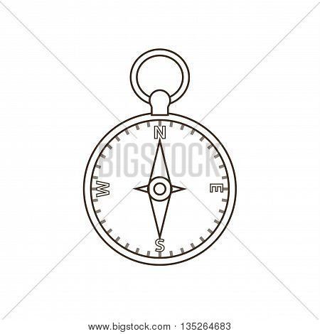 Tourism compass icon. Isolated camp compass icon vector. Travel equipment tourism camp compass illustration for explore camping design