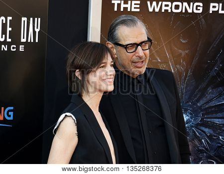 Jeff Goldblum and Charlotte Gainsbourg at the Los Angeles premiere of 'Independence Day: Resurgence' held at the TCL Chinese Theatre in Hollywood, USA on June 20, 2016.