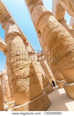 Great Hypostyle Hall at the Temples of Karnak, Luxor, Egypt