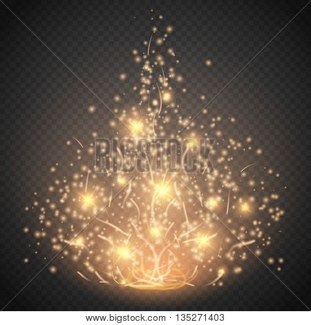 Magic light vector effect. Glow special effect light flare star and burst. Isolated spark. Vector illustration