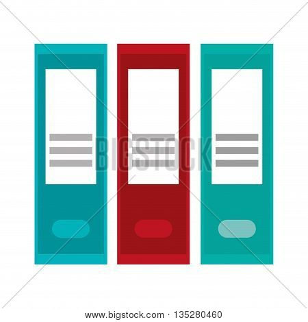blue and red lever arch folders vector folders