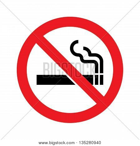 No smoking sign. No smoking symbol. Vector simple icon