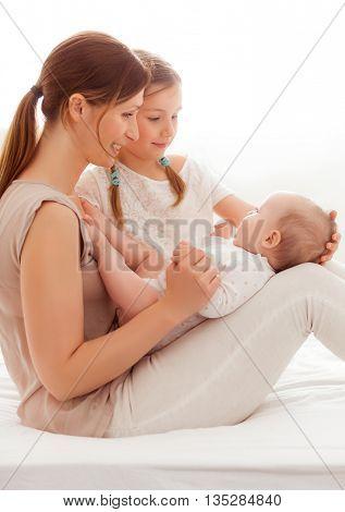 take care to litte newborn sister