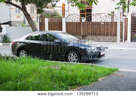 SOCHI RUSSIA - APRIL 29 2016: Honda Accord parked on the streets of Sochi.