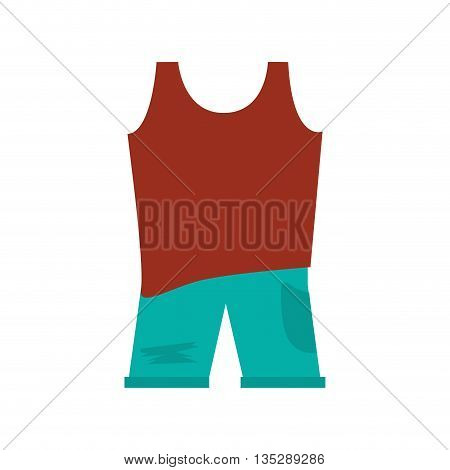 brown sleeveless top with blue pants vector illustration