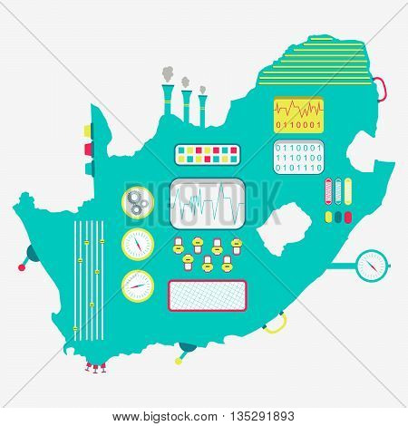 Map Of South Africa Machine
