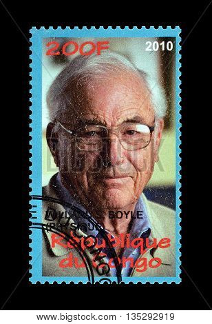 CONGO - CIRCA 2010 : Cancelled postage stamp printed by Congo, that shows Willard Boyle.