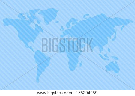 World map vector illustration. World map on white background. World map on background. Stylized world map. Simplified world map. World map for news background. World map round corners.