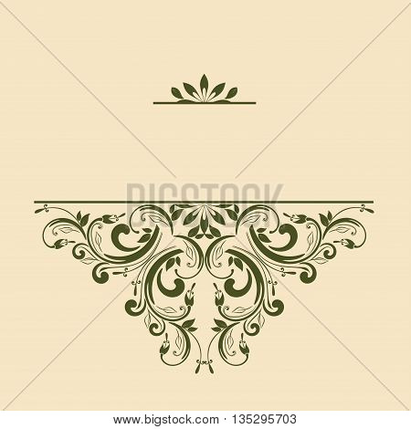 Ornamental pattern for invitations greeting cards. Vector illustration