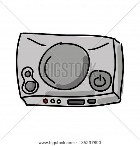 video game console  isolated icon design, vector illustration  graphic
