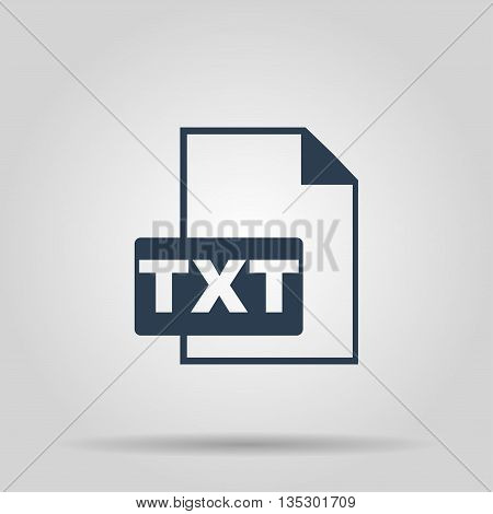 TXT Icon. Vector concept illustration for design.