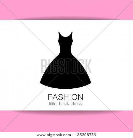 Fashion logo template. Concept logotype design for fashion shop, boutique, factory on tailoring, fashion show, dress shop, and etc. Vector graphic illustration.