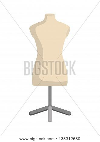 Tailor and sewing concept represented by manikin icon over flat and isolated background