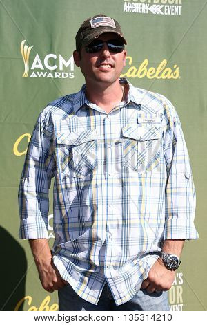 ARLINGTON, TX - APR 18: Singer Casey Donahew attends the ACM & Cabela'??s Great Outdoor Archery Event at the Texas Rangers Youth Ballpark on April 18, 2015.