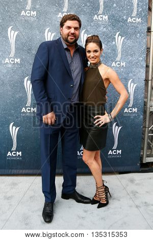 NASHVILLE, TN-SEP 1: Dallas Davidson (L) and Natalia Starzynski attend the 9th Annual ACM Honors at the Ryman Auditorium on September 1, 2015 in Nashville, Tennessee.