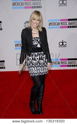 Natasha Bedingfield at the 2010 American Music Awards held at the Nokia Theatre L.A. Live in Los Angeles, USA on November 21, 2010.