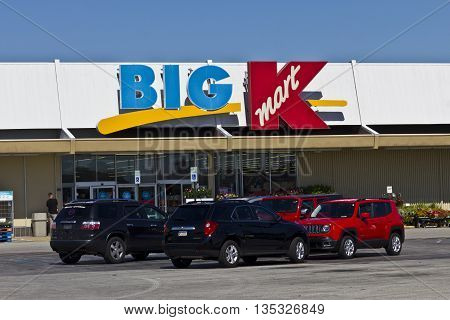 Indianapolis - Circa June 2016: Kmart Big K Retail Location. Kmart is a Subsidiary of Sears Holdingsa