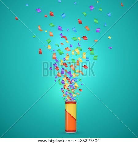Colorful confetti background. Confetti explosion. Many falling tiny confetti pieces. Bright confetti.