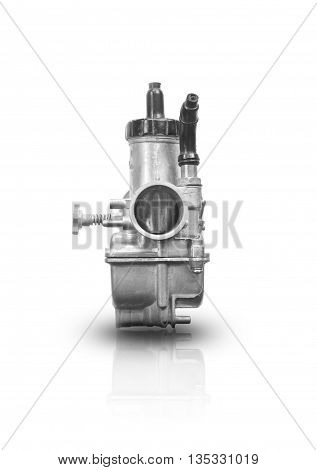 Carburetor For Motorcycle isolated on a white background.