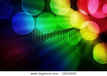Colorful Bokeh Effect Background