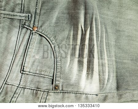 Pocket on grey jeans for a background