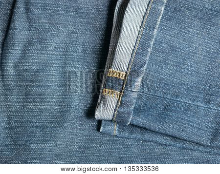 Texture of blue jeans lag for background