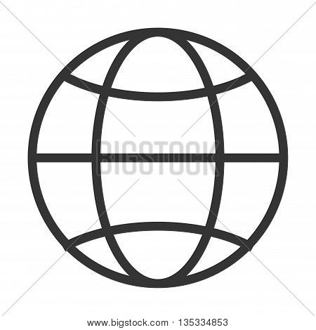 simple globe diagram with latitude lines and meridians vector illustration poster