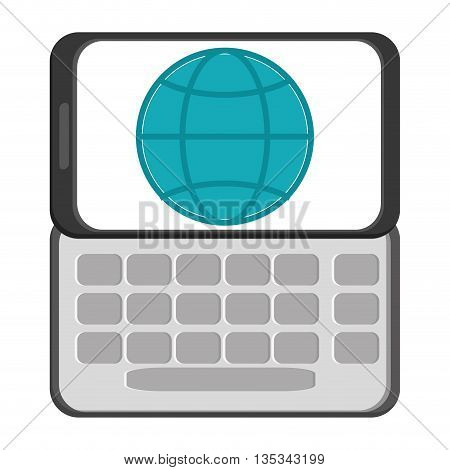 cellphone black cellphone with five buttons below the screen vector illustration