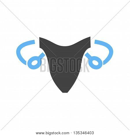 System, female, reproductive icon vector image. Can also be used for human anatomy. Suitable for mobile apps, web apps and print media.