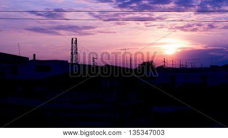 sky firmament Cloud color West Sunset Earth