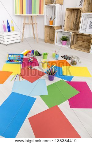 Messy Room Of Artist
