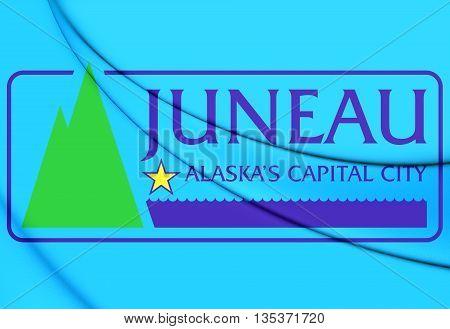 Flag Of Juneau, Alaska.