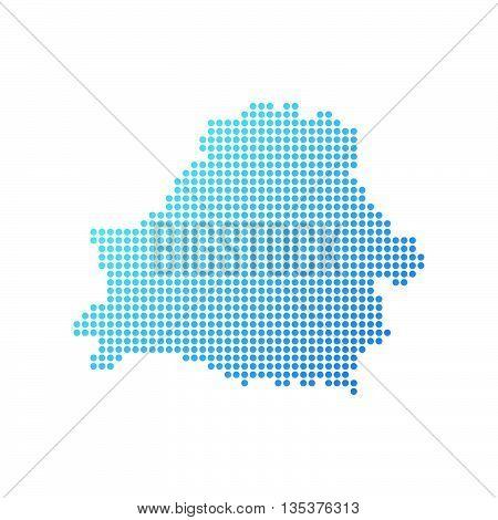 Map of Belorussia, Vector Icon in blue modern style