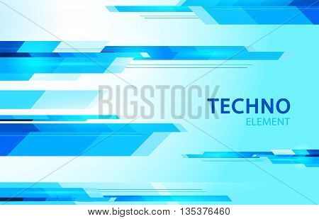 techno element lines stripes abstract blue background