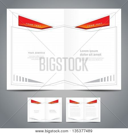 monster booklet catalog abstract geometric figure line frame - brochure design template